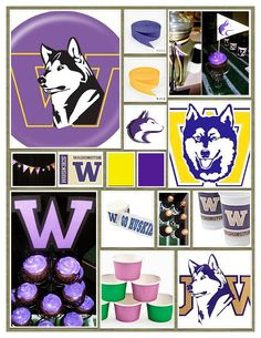 Circle River Creations - UW Husky Party :: Inspiration Board - College football teams are the perfect party theme for older birthday guys!