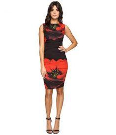 Nicole Miller Giant Poppy Lauren (Red) Women's Dress