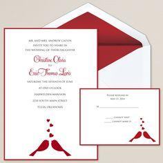 Lovebirds Wedding Invitation   #exclusivelyweddings