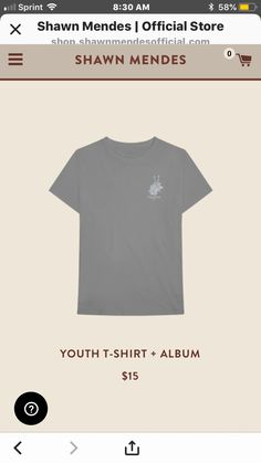 5d69d26f shawn mendes merchandise #youth #shawnmendes #shawnmendesmerch. Lindsie Ann  Aleman · Shawn Mendes T-Shirts