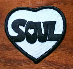 Vintage iron on 1970s Motown Soul Patch, measures at 3 inches. This patch would look good on jeans, cutoffs, overalls, jackets, and bags and