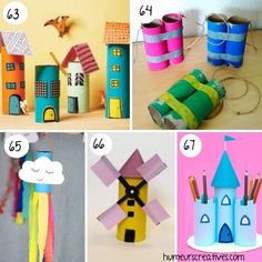 Find more than 80 ideas for crafts for kids to make with rolls of toilet paper. favorite characters, animals, vehicles, motor games and more! How To Make Toys, Crafts For Kids To Make, Christmas Activities, Craft Activities, Diy Craft Projects, Christmas Toilet Paper, Toilet Paper Roll Crafts, Matilda, Origami