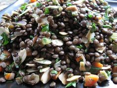 Lentil Salad with Toasted Almonds | Notes From a Gluten-Free Kitchen