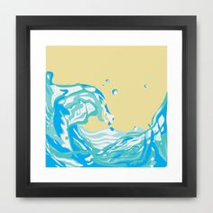 water pour Framed Art Print by Preethiprabhu - $36.00