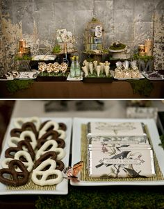 Perfect rustic dessert table, beautiful candy bar wrappers for favors. Wedding Sweets, Best Wedding Favors, Wedding Ideas, Dessert Wedding, Wedding Inspiration, Table Wedding, Wedding Card, Wedding Centerpieces, Candy Table