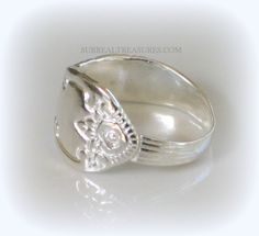 SILVER FLOWERS RING  Sterling Silver with a by SurrealTreasures