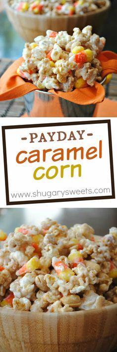 Caramel Corn that tastes like a Payday candy bar!…