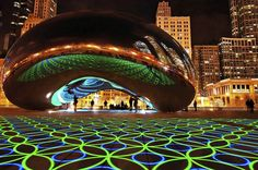 A really cool, new art installation in Millennium Park. The ground by the bean has a light and music show every night for the next week. I'll be checking this out and if you're in Chicago, so should you