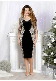 New Year's collection of dresses for full girls and women of the Belarusian company Mira Fashion 2019 - Fashion Outfits Elegant Dresses, Nice Dresses, Casual Dresses, Fashion Dresses, Formal Dresses, Classy Work Outfits, Plus Size Cocktail Dresses, Mom Dress, Batik Dress