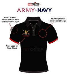 Army v Navy Limited Edition Performance Polo Shirt - ARMY – Fat Chimp