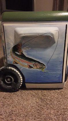 Cooler for boyfriend, rainbow trout