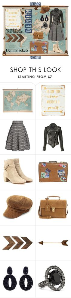 """""""Around the World"""" by forgottenmelody ❤ liked on Polyvore featuring WALL, Rumour London, Free People, Gianvito Rossi, Yves Saint Laurent and Oscar de la Renta"""