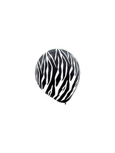 "Zebra Print Latex 12"" Balloons - Birthday Themed Balloons & Party Supplies"