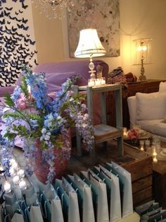 fabulous display of flowers in Rachel Ashwell New York Shabby Chic Couture shop
