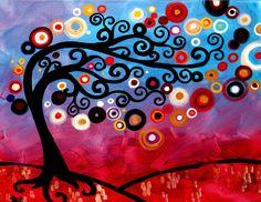 paintings of tree http://webneel.com/tree-paintings | Design Inspiration http://webneel.com | Follow us www.pinterest.com/webneel