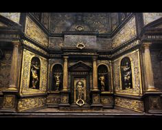 Part of cabinet, damascened with steel, Milan, second half of 16th c