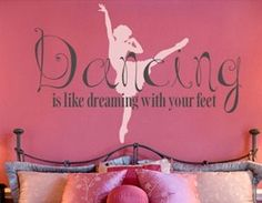 dance wall appliques | Dance & Ballet Theme Bedroom - Girls Dancing Wall Decor