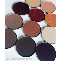 Repost from @blushedandbronzed Single Shadows have been restocked and are only $2 a pop check out brand new palettes and gel liners now on www.morphebrushes.com