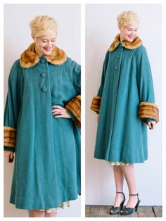 Fabulois color. Looks like mink.wool bulce. ALady 1940s Coat // Second City Coat // vintage 40s by dethrosevintage, $435.00