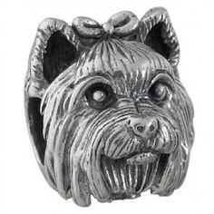 #YorkshireTerrier Bark Beads, $79.95, 925 Sterling Silver, Compatible with Trollbeads, Pandora, and Chamilia bracelets, Hand-crafted in the USA, Available at ANDREW GALLAGHER JEWELERS, Newark, DE 302-368-3380