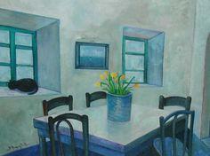 Interno in Provenza - olio su tavola di legno (50x60 cm)