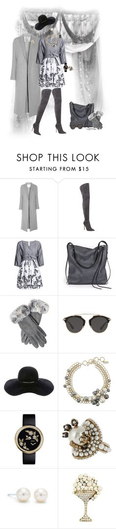 """Gray to Black"" by teresarussell49 ❤ liked on Polyvore featuring ADAM, Gianvito Rossi, Ina Kent, Christian Dior, Eugenia Kim, Lanvin, Gucci, Tiffany & Co. and Marc Jacobs"