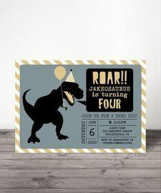 Hey, I found this really awesome Etsy listing at https://www.etsy.com/listing/224562687/dinosaur-birthday-invite-dino-birthday