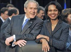 George Bush and Condoleezza Rice