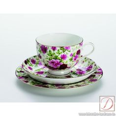 Maxwell & Williams Bone China - Royal Old England Collection, Teacup, Saucer, & Plate, Rose Bud Chintz