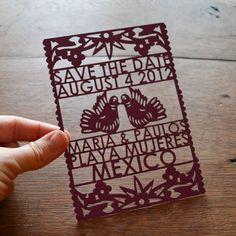 festive wedding invitations laser cut wedding stationery Mexican theme