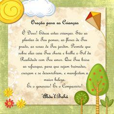 Oração Bahá'í - Crianças - www.bahai.org.br