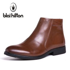 Blaibilton British Autumn Winter 100% Luxury Genuine Cow Leather Western Cowboy Boots Men Shoes Warm Fur Mens Ankle Snow Boot *** AliExpress Affiliate's buyable pin. Clicking on the VISIT button will lead you to find similar product on www.aliexpress.com
