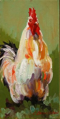 Chicken in acrylics