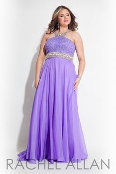 Chiffon A line gown with embellished bodice and neckline. Order today by calling Everything for Pageants at 1-815-782-8877 and ask for our current promotions.
