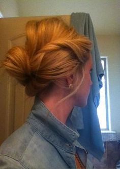 Great looking #updo! #hairstyle