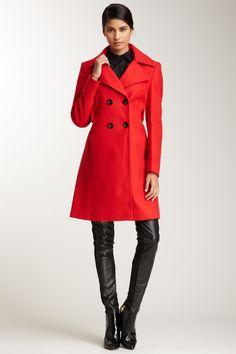Notch Lapel A-Line Coat