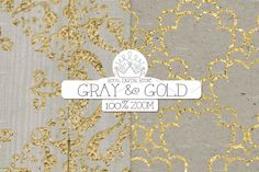 """Gray and Gold digital paper 12 gray and gold digital paper pack: """"GRAY & GOLD"""" with gray and gold background, gray scrapbook paper, gray textures, gray Grey And Gold, Gray, Paper Clip Art, Photography Backdrop Stand, Gold Background, Gold Wood, Rice Paper, Scrapbook Paper, Birthday Cards"""