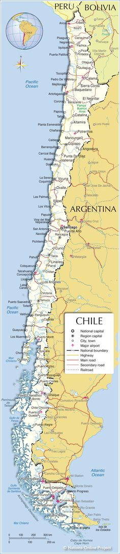 patagonia map - Google Search   Patagonia: Chile & Argentina ... on