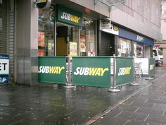 Cafe Barriers at Subway in Leicester. #subway #leicester #cafe #cafebarriers #cafebanners #banners #canvas