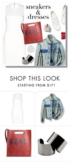 """""""Untitled #372"""" by craftsperson ❤ liked on Polyvore featuring Alice + Olivia, 3.1 Phillip Lim, Gucci, Maison Margiela, Burberry, By Terry and whitesneakers"""