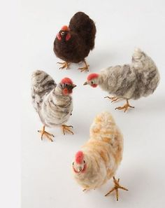 chickens made from wool