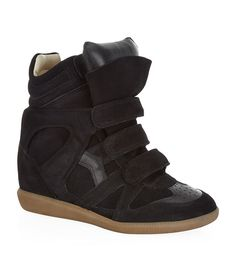 Shoes: Wedge Sneakers Isabel Marant Bekett Suede Wedge Sneaker