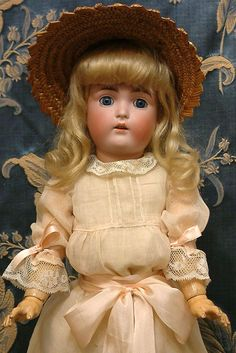 """Supremely Rare """"Daisy"""" All Original 18"""" All Antique Kestner 171 from kathylibratysantiques on Ruby Lane"""