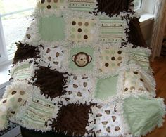 Baby Rag quilt ~ green