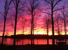 Sunset on Caney Lake in Northeast Louisiana. Brilliant colors! 328 Three Fingers, Chatham, LA 71226 - #: 159488