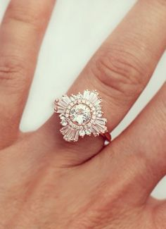 Deco diamond ring - very Great Gatsby! Perfect for the vintage bride.
