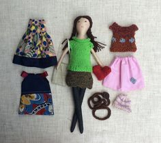 Modern cloth doll Doll with clothes Handmade fabric от Dollisimo