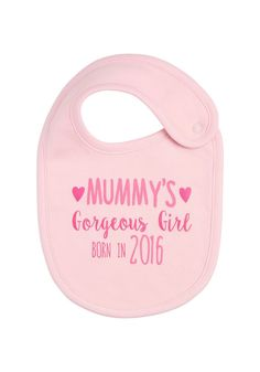 Clothing at Tesco   F&F Born In 2016 Bib > accessories > Baby Girls > Baby