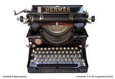 Hermes Standard 2 typewriter, # 1142 Made in Switzerland by Paillard S. The Alfred R. Vintage Room, Style Vintage, Vintage Stuff, Radios, Hermes, Writing Machine, Antique Typewriter, Old Factory, Old Tools
