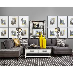 Z Gallerie's Vapor 3 Piece Sectional Sofa features a tight seat with comfortable loose back cushions. See product views & room inspiration images here. 3 Piece Sectional Sofa, Living Room Sectional, Chaise Sofa, My Living Room, Home And Living, Living Room Decor, Gray Sectional, Couches, Living Room Furniture Inspiration
